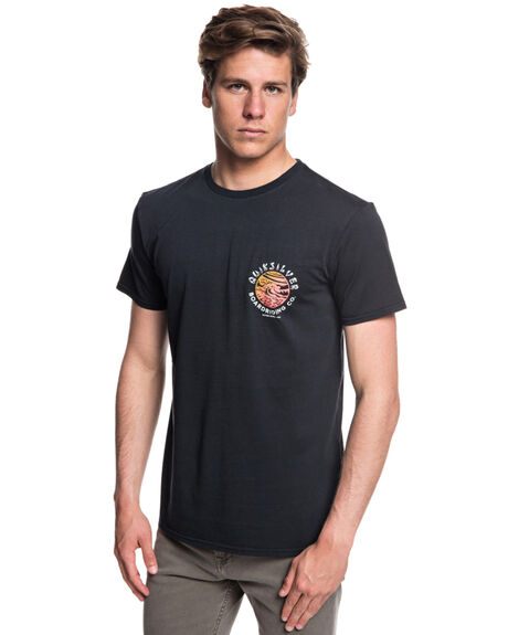 BLACK MENS CLOTHING QUIKSILVER TEES - EQYZT05161KVJ0