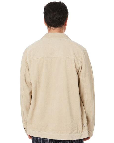 SAND MENS CLOTHING STUSSY JACKETS - ST006505SAND
