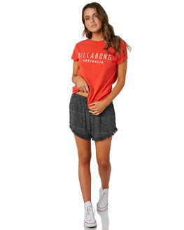 RED WOMENS CLOTHING BILLABONG TEES - 6581010RED