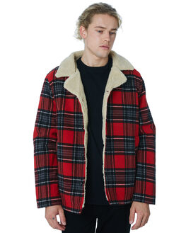 RED CHECK MENS CLOTHING WRANGLER JACKETS - 901558J04