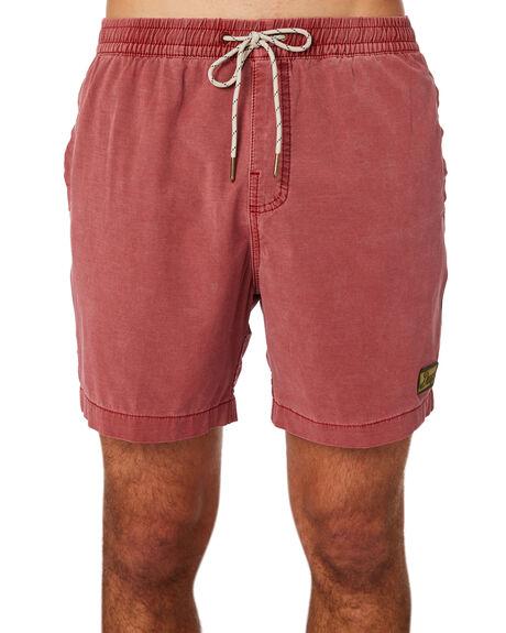 RED OCHRE MENS CLOTHING DEUS EX MACHINA BOARDSHORTS - BDMP82557REDOC
