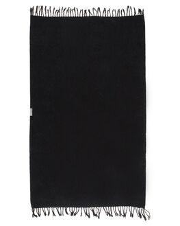 CHARCOAL WOMENS ACCESSORIES LEUS TOWELS HOME + BODY - 01BKFACHCHAR