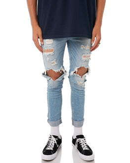 FADED BLUE MENS CLOTHING THE PEOPLE VS JEANS - SS167014FBLU