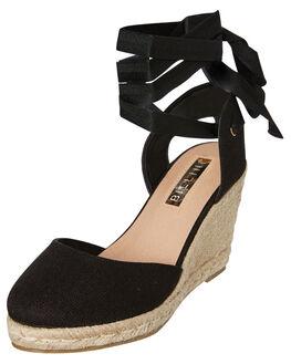 BLACK LINEN WOMENS FOOTWEAR BILLINI HEELS - W781BLKLN