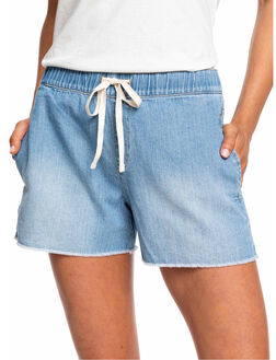 LIGHT BLUE WOMENS CLOTHING ROXY SHORTS - ERJDS03200-BFG0