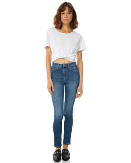 BLUE STELLAR WOMENS CLOTHING NUDIE JEANS CO JEANS - 112817BLUS1
