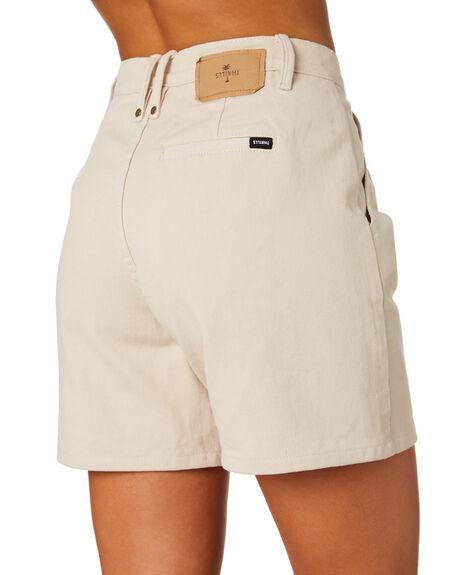 DIRTY WHITE WOMENS CLOTHING THRILLS SHORTS - WTDP-327AWHT