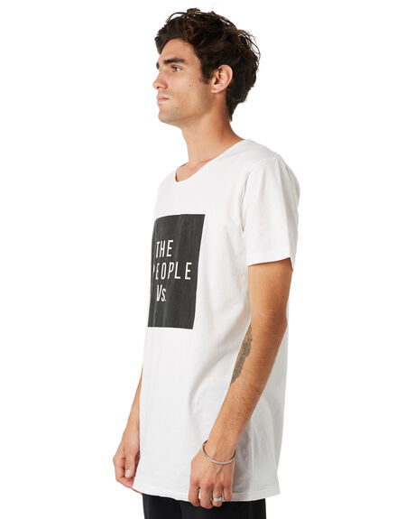WHITE MENS CLOTHING THE PEOPLE VS TEES - W19013WHT