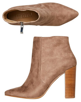 LATTE SUEDE WOMENS FOOTWEAR THERAPY BOOTS - SOLE-A2043LATTE