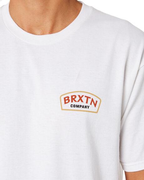WHITE MENS CLOTHING BRIXTON TEES - 16171WHT