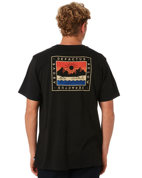 BLACK MENS CLOTHING DEPACTUS TEES - D5194002BLACK