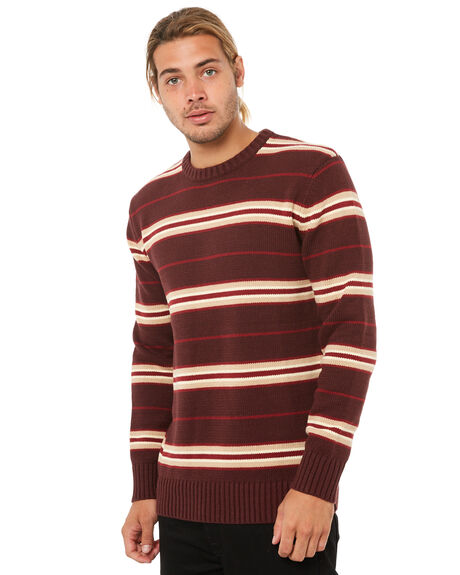 BURGUNDY MENS CLOTHING SWELL KNITS + CARDIGANS - S5184146BURGY