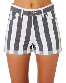 SPRING STRIPE WOMENS CLOTHING DR DENIM SHORTS - 1610103-S91