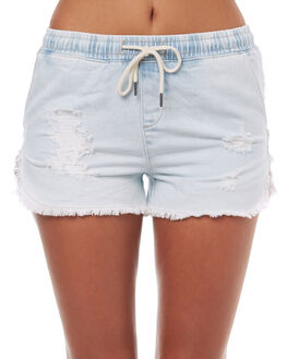 BLUE WOMENS CLOTHING ALL ABOUT EVE SHORTS - 6481683DEN