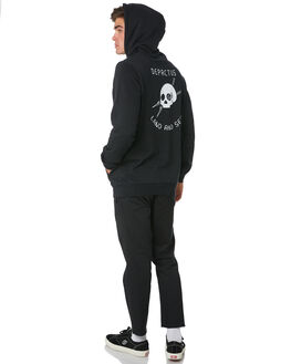 BLACK MENS CLOTHING DEPACTUS JUMPERS - D5193442BLACK