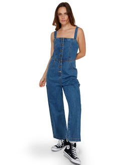 MID BLUE WOMENS CLOTHING RVCA PLAYSUITS + OVERALLS - R291753MBLU