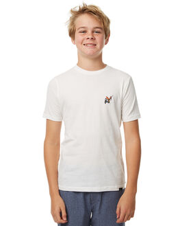 WHITE KIDS BOYS GLOBE TEES - GB41710001WHT