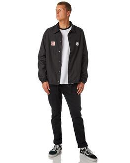 FLINT BLACK MENS CLOTHING ELEMENT JACKETS - 183455FBLK