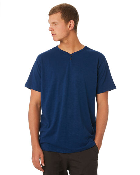 SPANISH BLUE MENS CLOTHING KATIN TEES - KNFOL03SPBLU