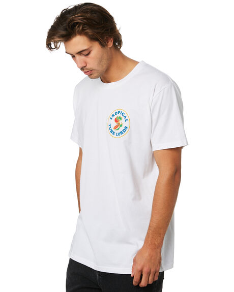 WHITE MENS CLOTHING THE LOBSTER SHANTY TEES - LBSTLTEEWHT