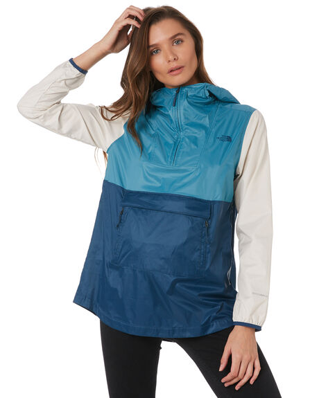 STORM BLUE MULTI WOMENS CLOTHING THE NORTH FACE JACKETS - NF0A3SV89JQ