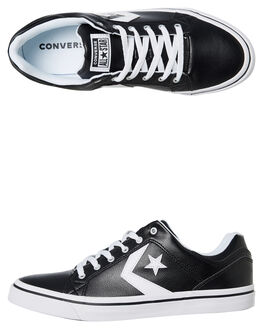 BLACK WHITE MENS FOOTWEAR CONVERSE SNEAKERS - 161608BLK