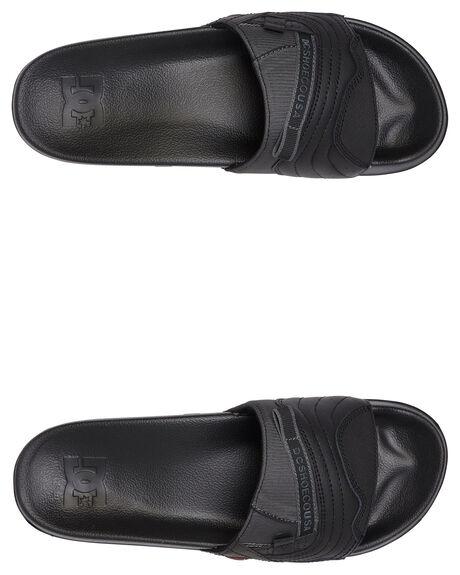 BLACK/GREY MENS FOOTWEAR DC SHOES THONGS - ADYL100045-BLG