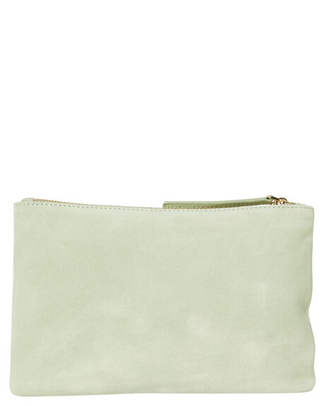 SEAFOAM SUEDE WOMENS ACCESSORIES THE WOLF GANG PURSES + WALLETS - TWGSS18B25SEA