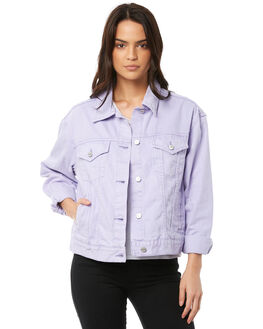 PURPLE WOMENS CLOTHING INSIGHT JACKETS - 5000001012PPL