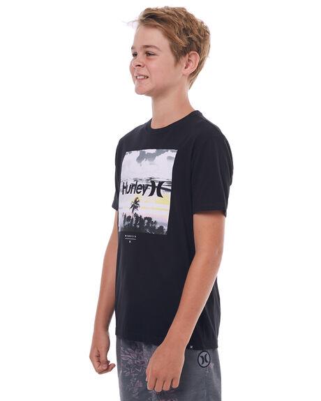 BLACK KIDS BOYS HURLEY TEES - ABTSSPTT00A