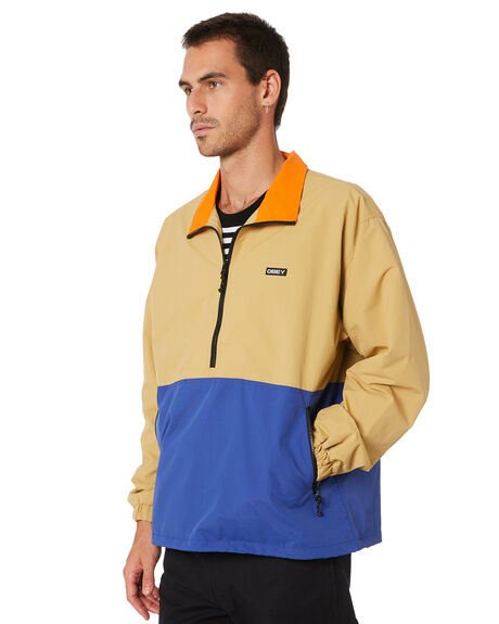 ALMOND MULTI MENS CLOTHING OBEY JACKETS - 121800408ALM