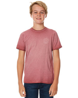 DUSTY RED KIDS BOYS BILLABONG TEES - 8571006RED