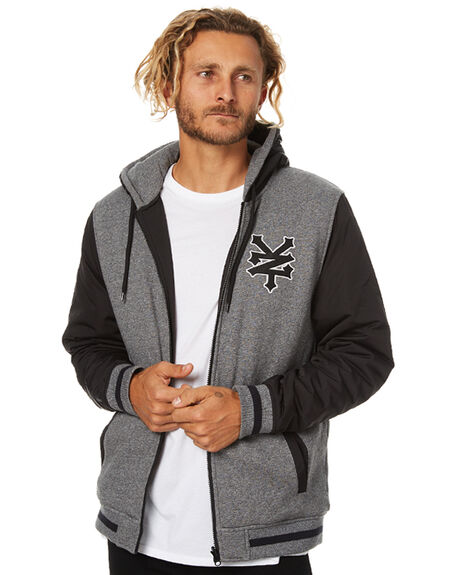 BLACK MENS CLOTHING ZOO YORK JUMPERS - ZY-MFB7048BLK