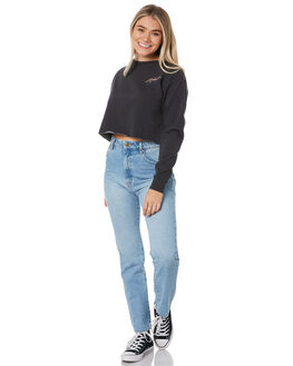 WASHED BLACK WOMENS CLOTHING SILENT THEORY JUMPERS - 6054006WBLK