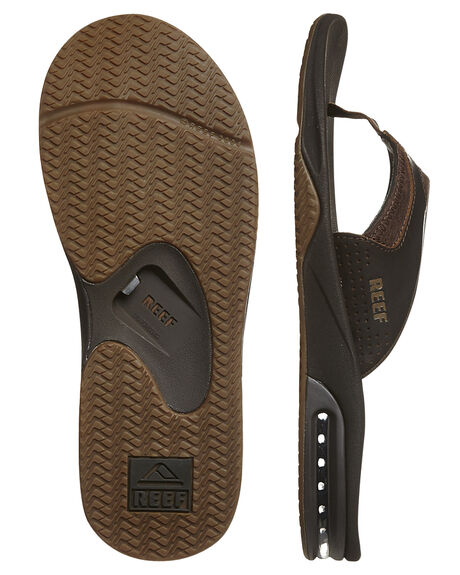 BROWN MENS FOOTWEAR REEF THONGS - 2156BRO