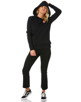 BLACK WOMENS CLOTHING SANTA CRUZ JUMPERS - SC-WFC8632BLK