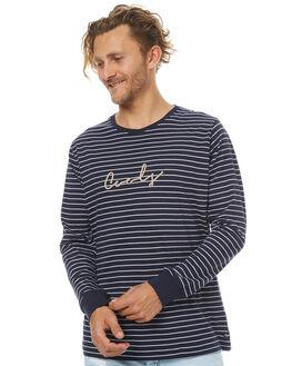 NAVY STRIPE MENS CLOTHING BARNEY COOLS TEES - 157-MC3NVYS