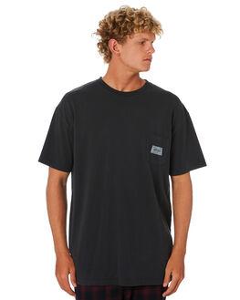 BLACK MENS CLOTHING STUSSY TEES - ST006018BLK