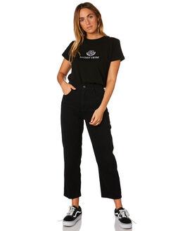 BLACK WOMENS CLOTHING STUSSY TEES - ST183015BLK