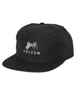 BLACK MENS ACCESSORIES VOLCOM HEADWEAR - D5541902BLK
