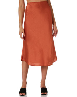COGNAC WOMENS CLOTHING LULU AND ROSE SKIRTS - LU23705COGN
