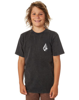 BLACK KIDS BOYS VOLCOM TOPS - C4341873BLK