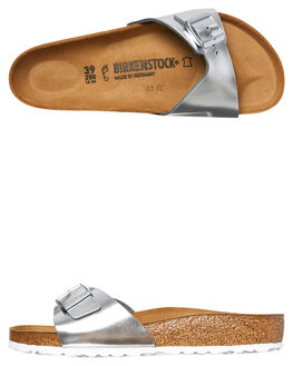 METALLIC SILVER WOMENS FOOTWEAR BIRKENSTOCK FASHION SANDALS - 004050METS