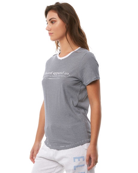 NAVY STRIPE WOMENS CLOTHING ELWOOD TEES - W82103JF6