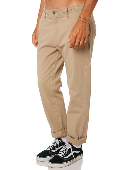 DARK KHAKI MENS CLOTHING RIP CURL PANTS - CPAAH99660