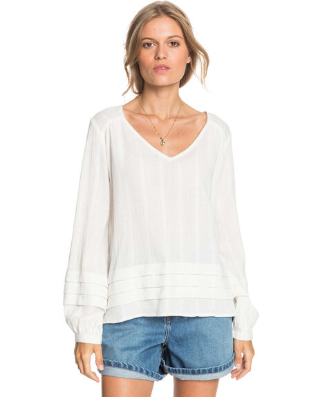 SNOW WHITE WOMENS CLOTHING ROXY FASHION TOPS - ERJWT03475-WBK0
