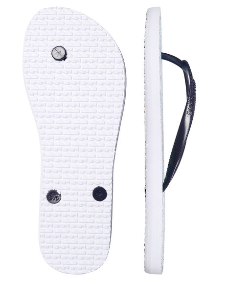 WHITE WOMENS FOOTWEAR BILLABONG THONGS - 6685801WHT
