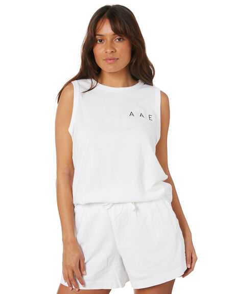 WHITE WOMENS CLOTHING ALL ABOUT EVE SINGLETS - 6466015WHT