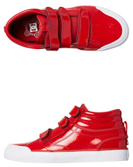 RED WOMENS FOOTWEAR DC SHOES HI TOPS - ADJS300200RED