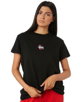 BLACK WOMENS CLOTHING STUSSY TEES - ST195014BLK